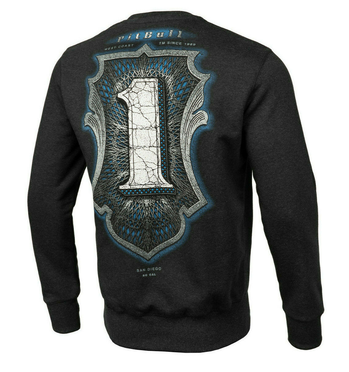 Sweatshirt Blause grau One Number MMA Coast West PitBull