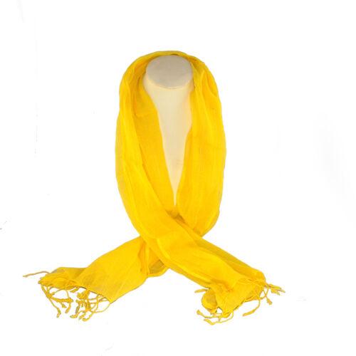 Yellow Fine Cotton Scarf SKCYELL