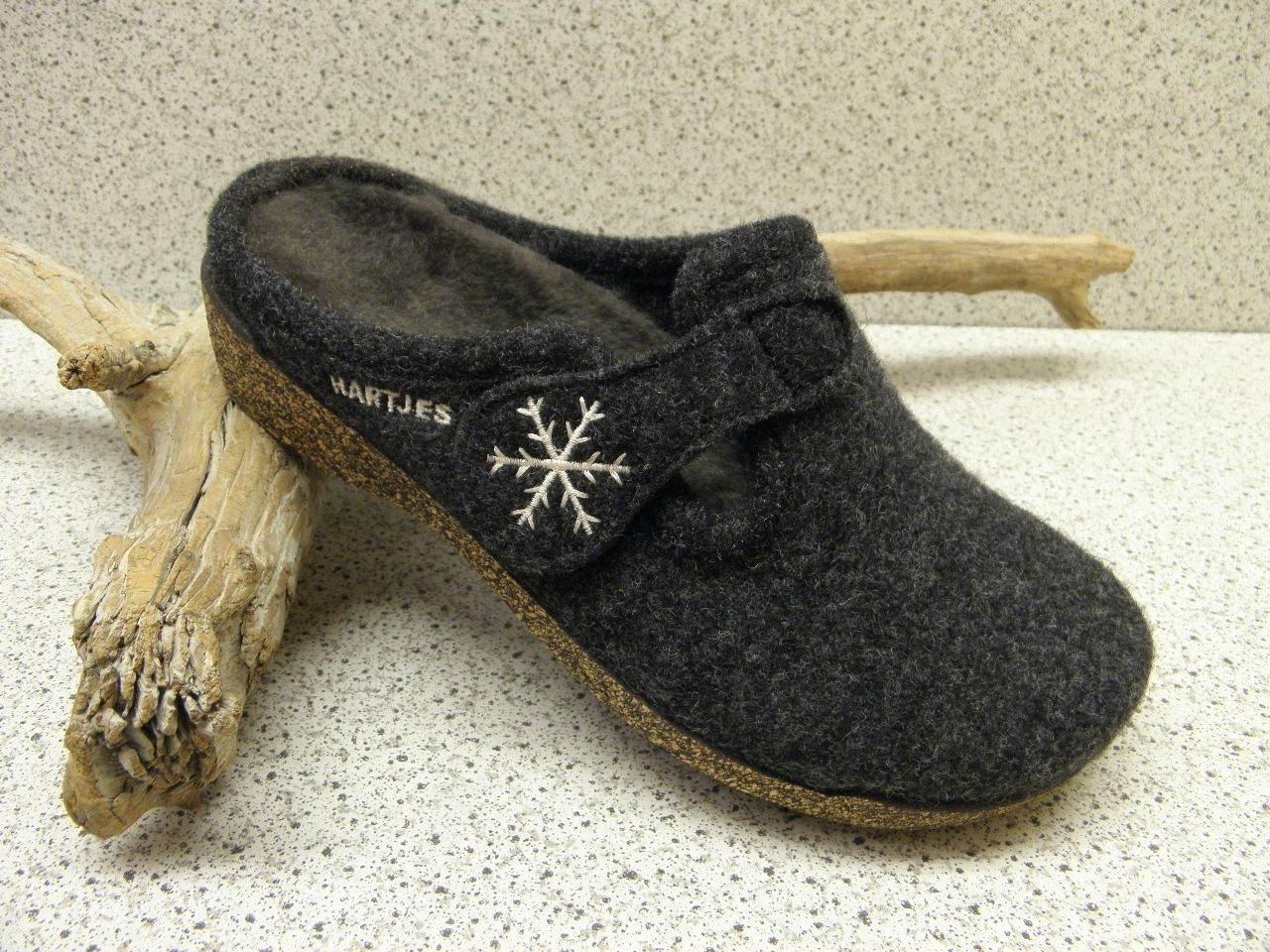 Hartjes® bisher    Filz Wolle und Lammfell Pantoffel grau (512)