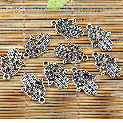 22pcs Tibetan silver hollow palm charms EF1855