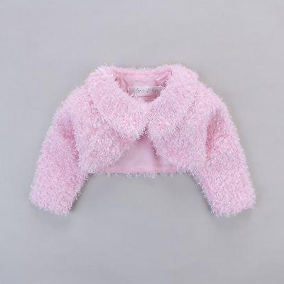 Babys Soft Cotton Faux Fur Jacket Coat Outwear White Creme Pink Purple 3//9M-3YRS
