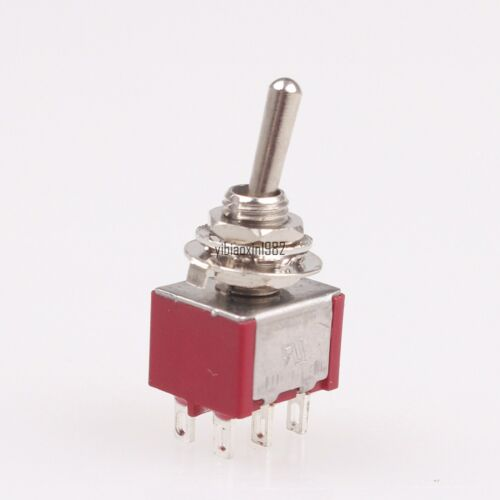 New Switching Light Toggle Switch 3 Positions 6Pins DPDT 6pcs