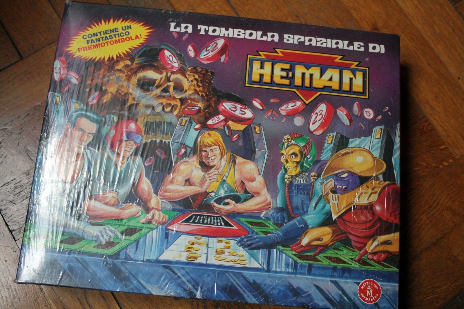TOMBOLA SPAZIALE DI HE-MAN MOTU MASTERS OF THE UNIVERSE MATTEL VINTAGE 1989 MISB