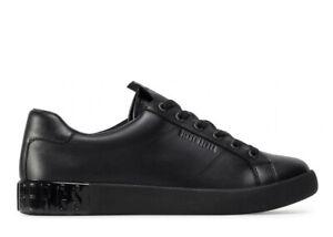 Scarpe uomo Bikkembergs sneakers invernali casual sportive basse vera pelle nera