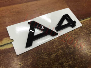 "Gloss Black /"" A 4 /"" Trunk Rear Letters Words Badge Emblem Sticker for Audi A4"