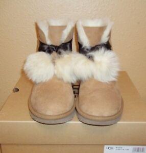 UGG Australia Gita Pom Pom Chestnut Sheepskin Women s Winter Boots ... ff64f0bac
