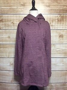 Merona-Atlantic-Burgundy-Hooded-Double-Breasted-Button-Up-Coat-Small-NWT-39-99