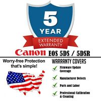 5yr Extended Warranty + Cleaning & Firmware Update For Canon 5ds / 5dsr