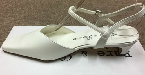 Ivory Leather Bridal Bridesmaid Shoes Sizes 3-8 By Pure /& Precious Style Kennedy