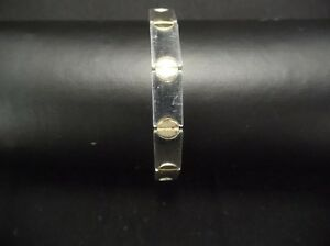 STERLING-SILVER-BRACELET-925-MADE-IN-ITALY-7-5-034-AROUND-FANCY-CLASP-164-14-GRAMS