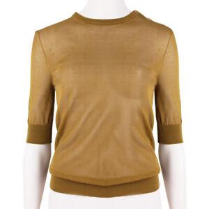 Nina-Ricci-Tawny-Brown-Fine-Gauge-Knit-Sheer-Knitwear-Top-XS-UK6-IT38