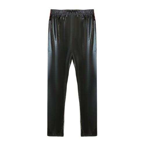 New Mens Faux Leather Wet Look Pants Leggings Long Trousers Night Clubwear Black