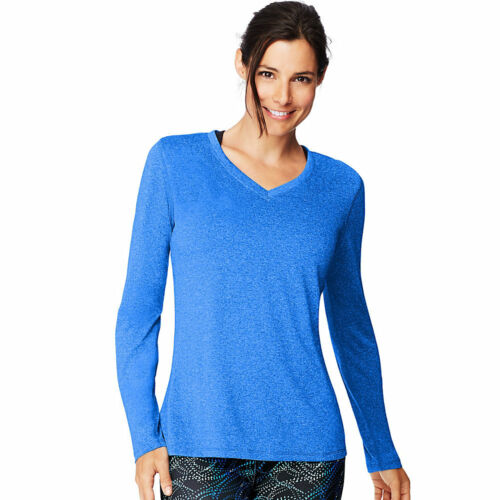 Performance sleeve Women's Long cool shirts O9309 neck Hanes Sport 2 T V Dri® qAxwB6pUX