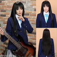 HOT~Akiyama Mio / Hell Girl Long Black Anime Cosplay NO Wig Party Full Wig 80cm