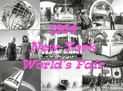 J09 1964 NEW YORK WORLDS FAIR UNISPHERE FILMS ON DVD OLD TIME NY FAIR FILMS