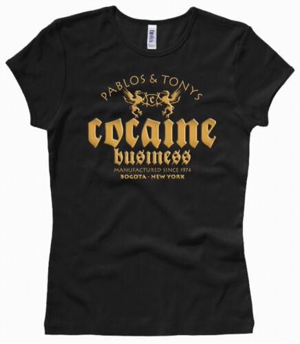 XS bis XL Pablos /& Tonys Cocaine Business Damenshirt // Girl // Woman Gr