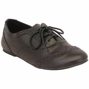 Girls School Shoes Matt Brogue Wedding