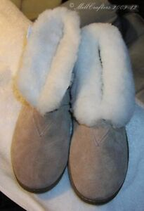 NEW-MENS-BEST-TAN-SHEEPSKIN-BOOTIE-SLIPPER-SIZE-7-8-9-10-11-12-13-14-9813-M