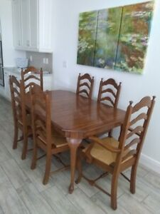 Pennsylvania House Oak Dining Room Table Chairs And Server Sideboard Ebay