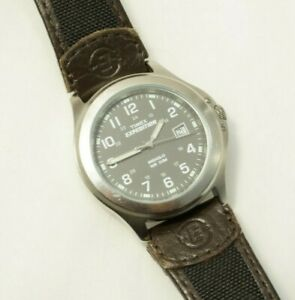 83406bbb8 Timex Men's Expedition Metal Field Watch T40091 Brown Canvas Leather ...