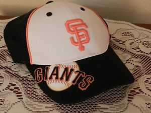the best attitude 49280 a4d67 Image is loading San-Francisco-Giants-Black-amp-White-Adjustable-Baseball-