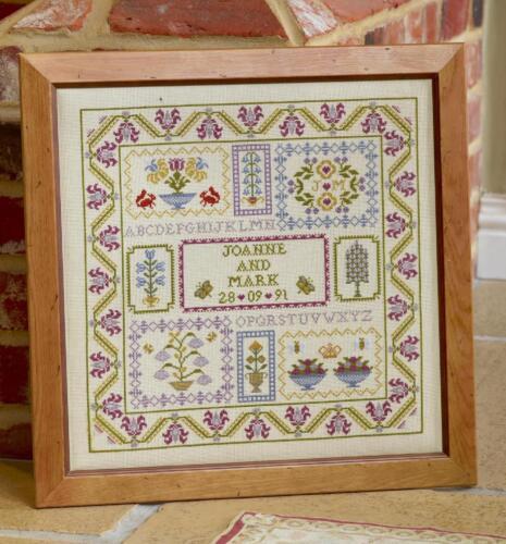 boîtes de mariage HS compté cross stitch Sampler Kit