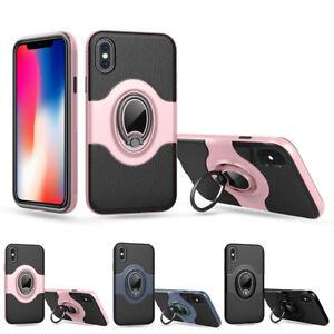 Coque-Avec-Anneau-Bague-360-Rotation-Retro-Classique-Case-pour-iPhone-amp-Samsung