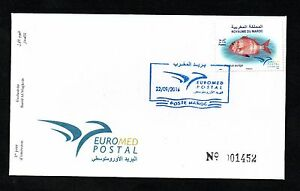 2016- Morocco- Maroc- Fish in Euromed, Joint & common issue- FDC