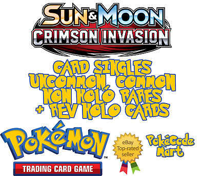 Crimson Invasion Common and Uncommon Card Selection Pokemon TCG
