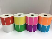 All Colors 225x125 Direct Thermal Zebra Eltron Labels 8 Rolls 1000roll