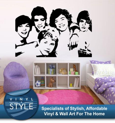 One Direction Gruppe 001 Vinyl Aufkleber Wandkunst Verscheidene Farben