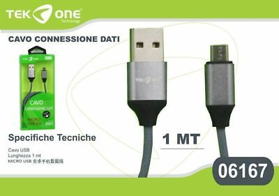 Cavo Dati Usb Tekone 06167 Connettore Microusb Micro Usb 1mt Smartphone Hsb