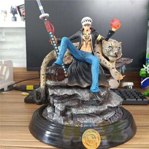One-Piece-Trafalgar-Law-snow-leopard-Scene-PVC-Figure-Statue-Jouet-30cm-En-Boite