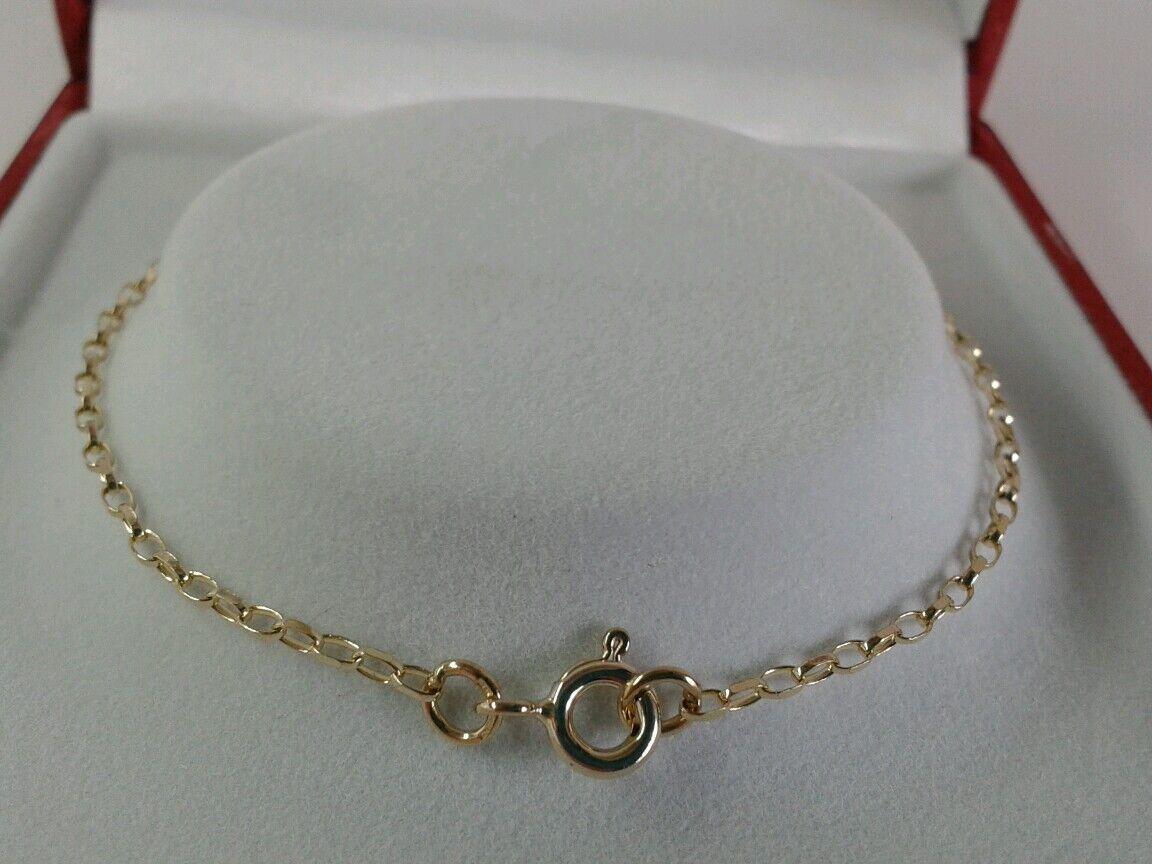 9ct oro Donna Donna Donna galleggianti cuore diamante taglio belcher Bracciale. British 7.5 pollici. 445d8b