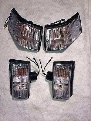 Blinker satz Set Vespa PX 80 125 200 weiß komplett mit Glühbirne mit E Nummer