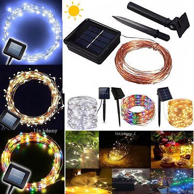 50-200 Led Solar Power Fairy Light String Lamp Party Xmas Deco Garden Outdoor