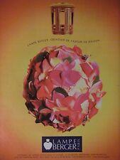 PUBLICITÉ 1995 LAMPE BERGER PARIS PARFUM DE MAISON - ADVERTISING