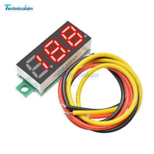 "5PCS 0.28/"" Three-Wire Digital Voltmeter Red LED DC 0-100V Voltage Panel Meter"