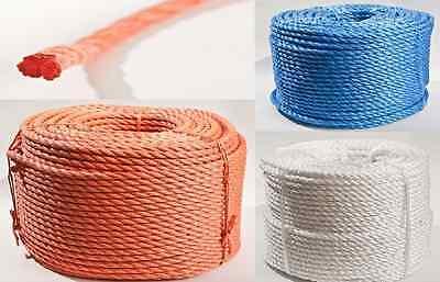 10m SEIL Polypropylen 8mm schwimmfähig Tauwerk Tau Kunststoffseil PP Seil ORANGE