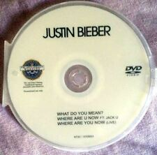 Justin Bieber music videos DVD single what do you mean, where are U now Not a CD