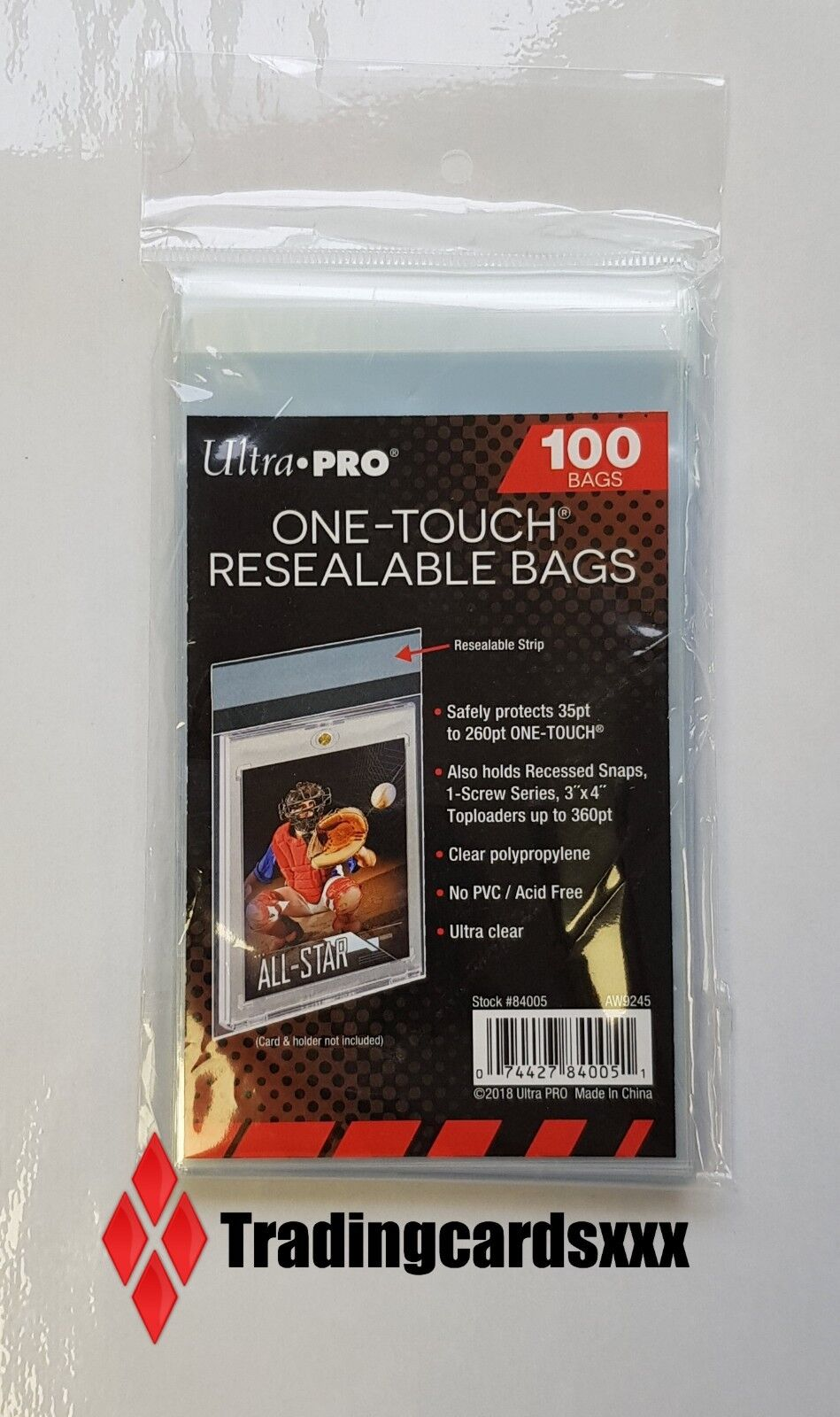 ♦Pokémon//Yu-Gi-Oh!♦ 100 Pochettes//Sleeves Ultra PRO One-Touch Resealable Bags