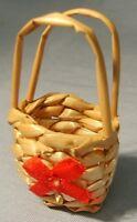Raffia Shopping Basket, Dolls House Miniatures, Accessory, 1.12 Scale