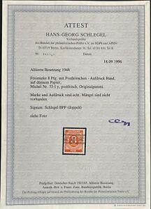 AM-post 8pf nastro impresso carta sottile MER. nr: 53 iy ** fa correttamente Mer €: 2000,00 €