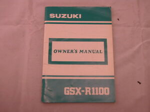 SUZUKI-GSX-R1100-GSX1100R-1989-OWNER-OWNER-039-S-OWNERS-MANUAL