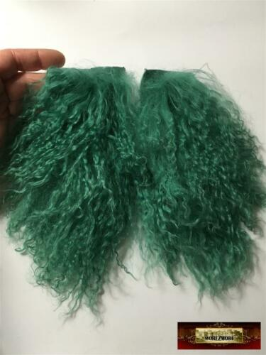 M00308 MOREZMORE Hair Tibetan Lamb Remnants MEADOW GREEN Doll Puppet Wig
