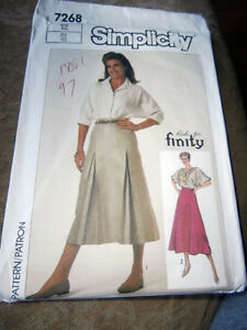 Oop-Simplicity-7268-ricki-for-finity-misses-skirt-gored-flared-size-12-NEW