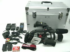MINT CANON XL1 3CCD CAMCORDER BUNDLE WITH EXTENDER, 2 BATTS, CHARGERS, HARD CASE