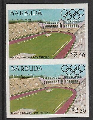 Barbuda (618) 1984 Olympics $2.50 Stadium Imperf Pair U/m Last Style