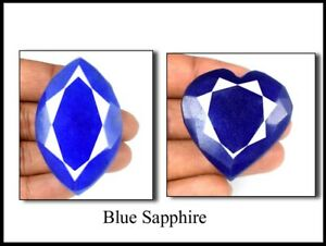 African 500 Ct Natural Mix Shape Blue Sapphire Gemstone Pair Discounted Sale