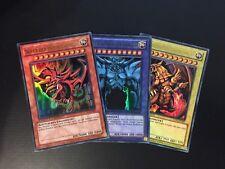 YUGIOH!! Slifer, Obelisk, Ra! Götterkarten Set LC01-DE001-003! Ultra Rare! NM DE